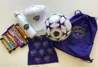 Win one of five Cadbury #TasteTheAction football hampers! 25