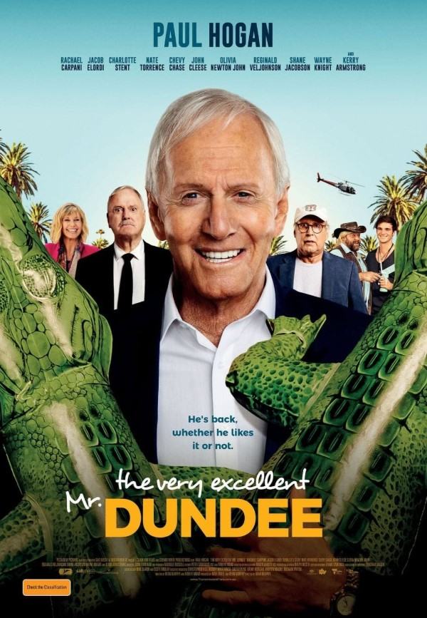 Paul Hogan stars in the meta-comedy The Very Excellent Mr. Dundee 4