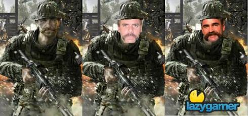 Me, Merve Hughes and Captain Price