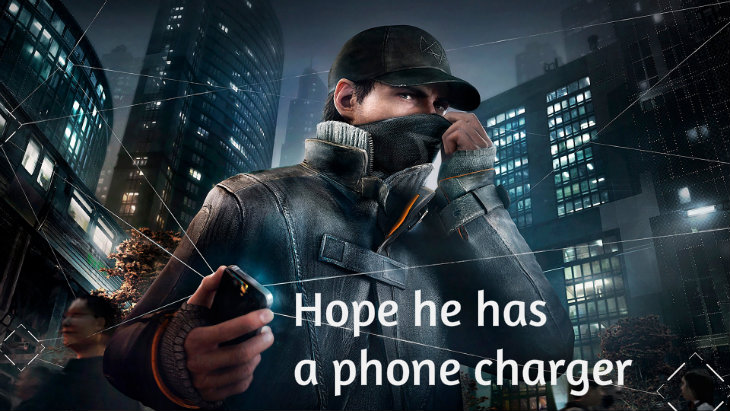Watch dogs phone charger