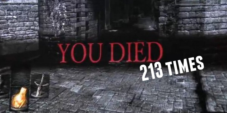 You died 213 times