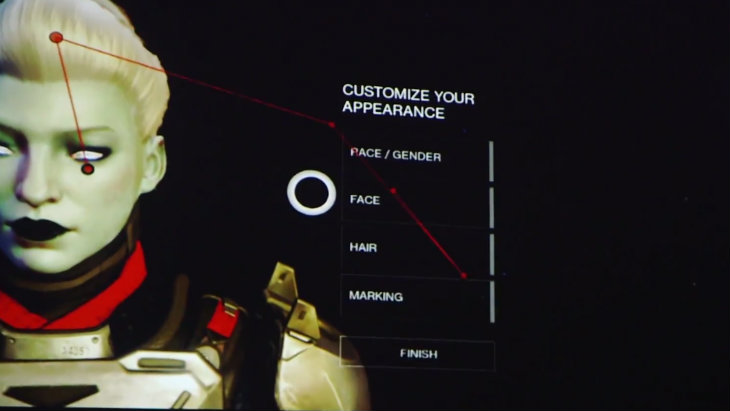Destiny character creation