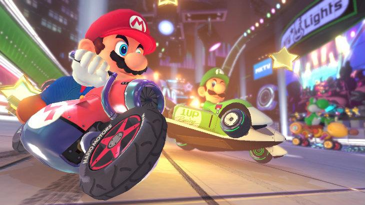 Mario going left