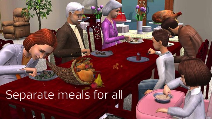 Awkward meals a sims tradition