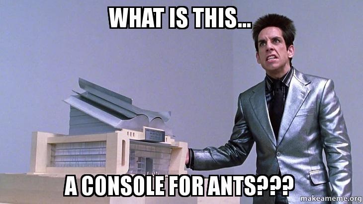 A typical hardcore gamer attitude to the WiiU