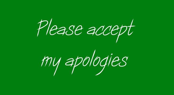 Ha you thought I'd be rude here, honest apology