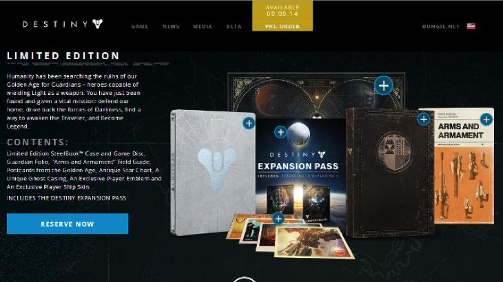 Destiny Limited contents
