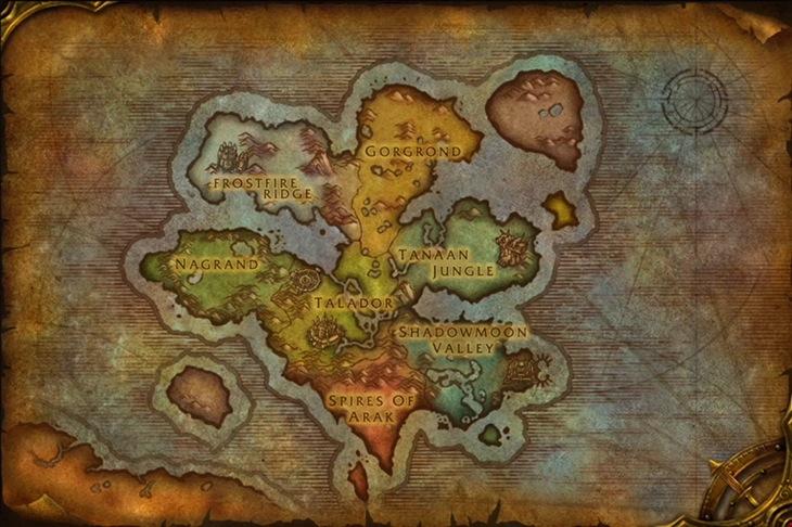 Draenor map