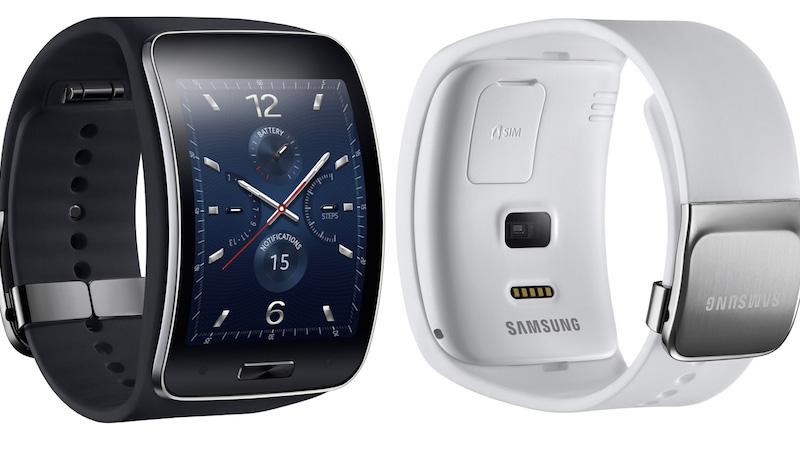 Samsung gear s smartwatch 3g white black front back1