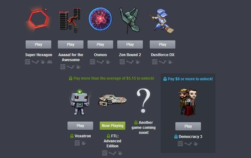 Try the latest Humble Bundle right now in your browser