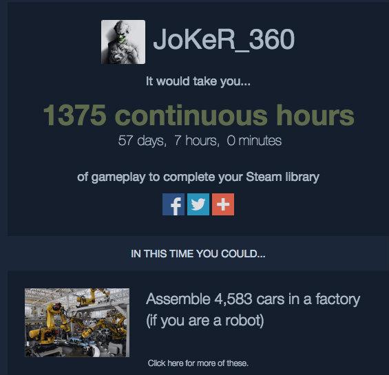 Steam backlog joker