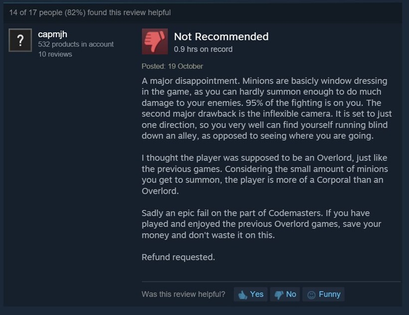Overlord Steam reviews 3