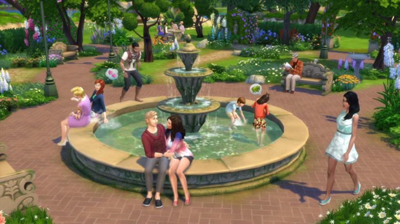 Sims 4 romantic garden 1
