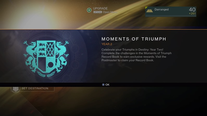 51b4d41a0e25 Destiny Year Two Moments of Triumph are now live - Critical Hit