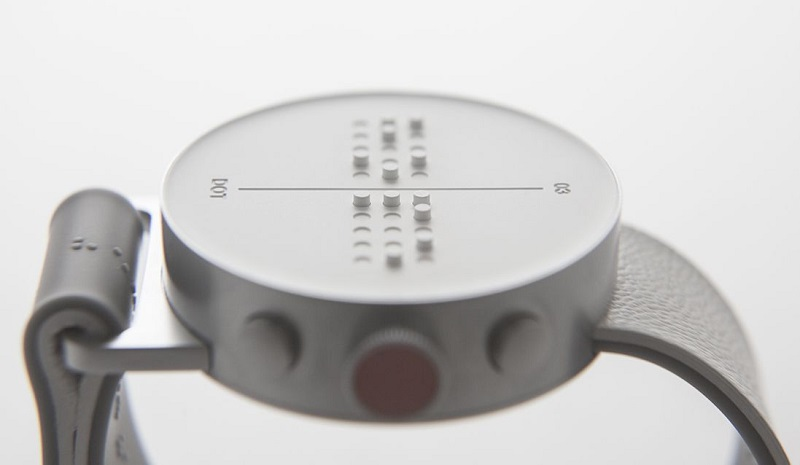 A smartwatch that displays in Braille is on its way, called Dot 4
