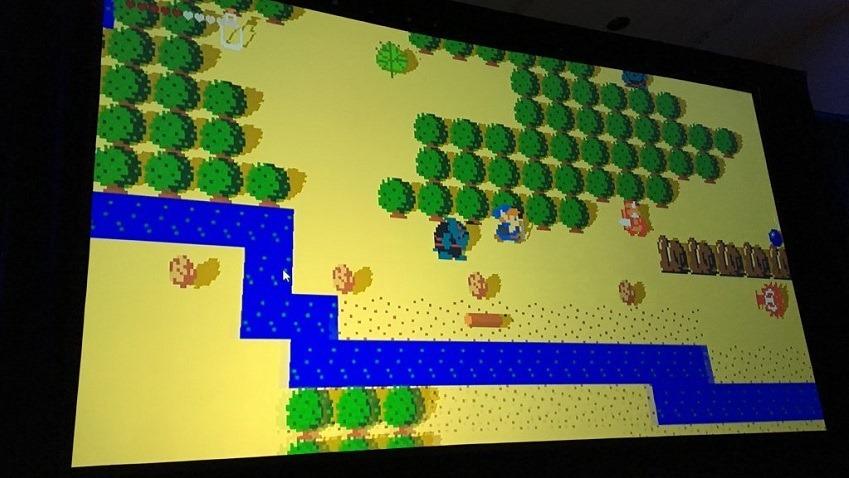 Zelda was designed in 2D
