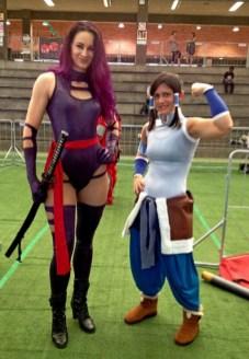 Sarah as Psylocke, Noelle as Korra.