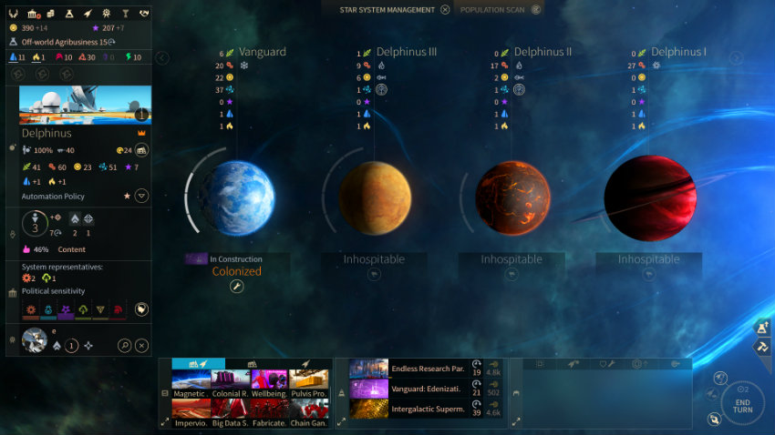 Endless space 2 planets