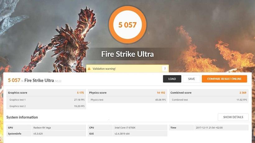 AMD Vega 56 - FireStrike Ultra