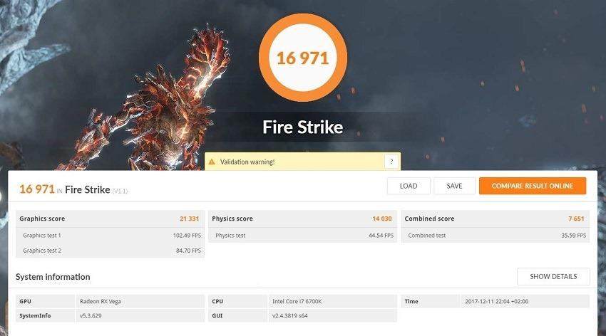 AMD Vega 56 - FireStrike