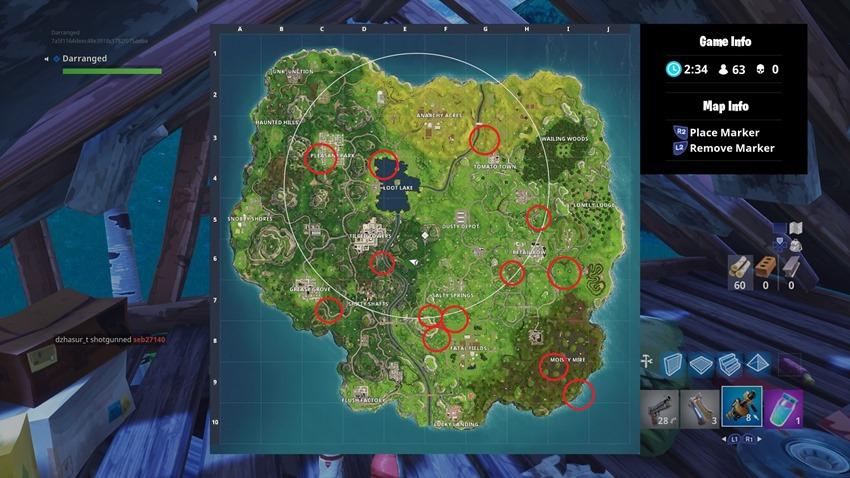 Llama locations Fortnite Battle Royale