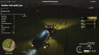 Pure Farming 2018 watering the rain