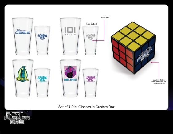 Rubik's Set Of 4 Pint Glasses