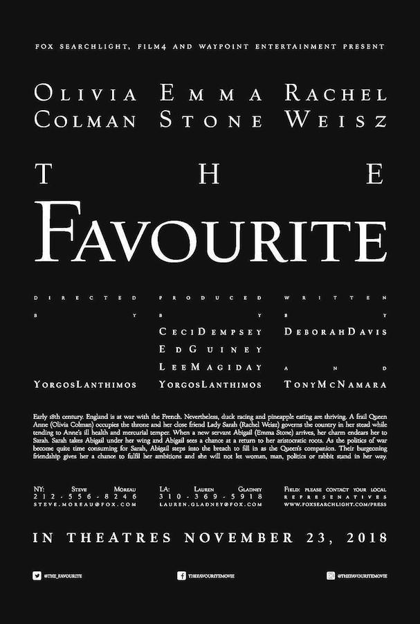 Trailer: Rachel Weisz, Emma Stone, and Olivia Colman in the eccentric period piece The Favourite 4