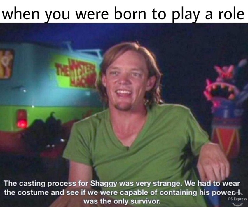 Behold your new meme god, Shaggy's power
