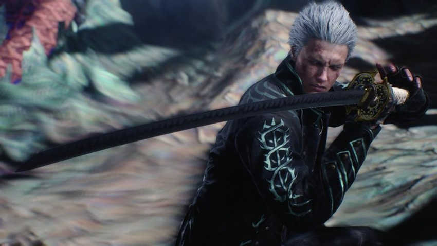 Vergil Yamato Sword Hd Wallpaper: Devil May Cry 5 Data-mining Reveals A Big Fan-requested