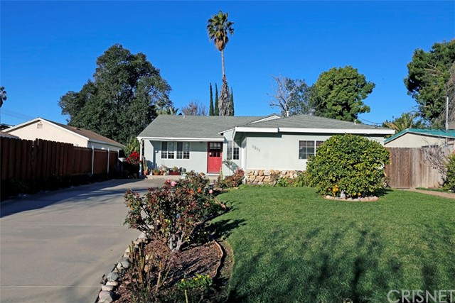 REDUCED $10K - This charming Northridge home features 3 bedrooms and 1.5 bathrooms. The home is 1,301 square feet on a large 7,497 square foot lot. Other features include a living room and sun room, large master bedroom with it's own bathroom, a separate laundry room, central heat and air as well as a whole-house fan. Front and rear yards have several producing citrus and banana trees. Extra long driveway can accommodate several vehicles.