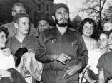 16 de abril. Fidel con estudiantes de la Clayton High School, en Washington DC.