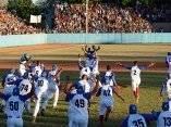 El equipo de Granma logra el campeonato nacional en la gran final de la 56 Serie Nacional de Béisbol que se juega en el estadio Mártires de Barbados, en Granma, el 22 de enero de 2017. ACN FOTO/ Osvaldo GUTIÉRREZ GÓMEZ