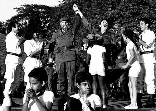 Fidel y Raúl en Cinco Palmas.