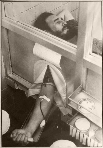 Fidel donó sangre para las víctimas del terremoto de Perú. Foto: Archivo