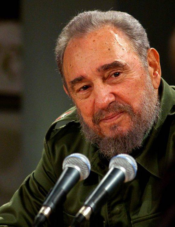 Fidel Castro en la Mesa Redonda. Foto: Ismael Francisco/ Cubadebate