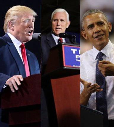 Trump, Pence y Obama