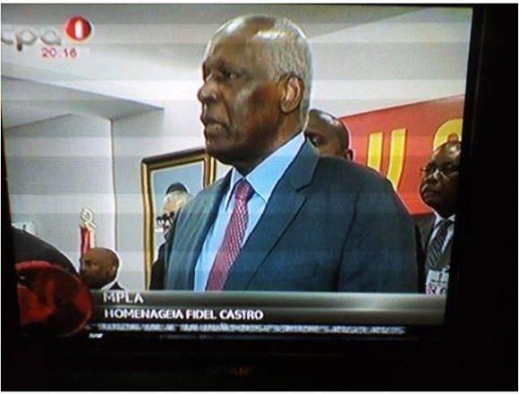 En Angola, El MPLA rinde tributo a Fidel.