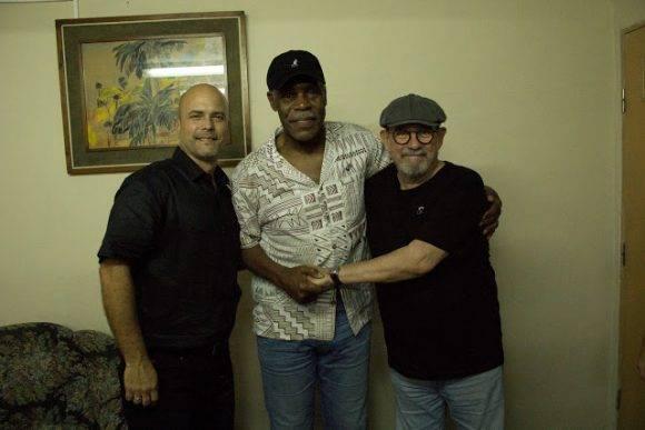 Gerardo, Danny Glover y Silvio en el ISRI. Foto: Pepín, el Obrero/ Segunda Cita