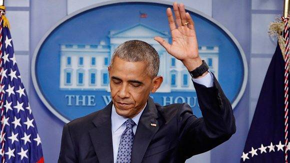 Obama durante su despedida en la Casa Blanca. Foto: Kevin Lamarque/ Reuters.