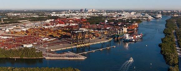 Puerto de Everglades, Florida. Foto: Florida Ports Council.