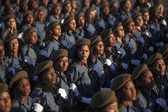 Revista Militar y Marcha del Pueblo Combatiente hoy 2 de enero de 2017 en La Habana, Cuba. Foto: Ladyrene Pérez/ Cubadebate.