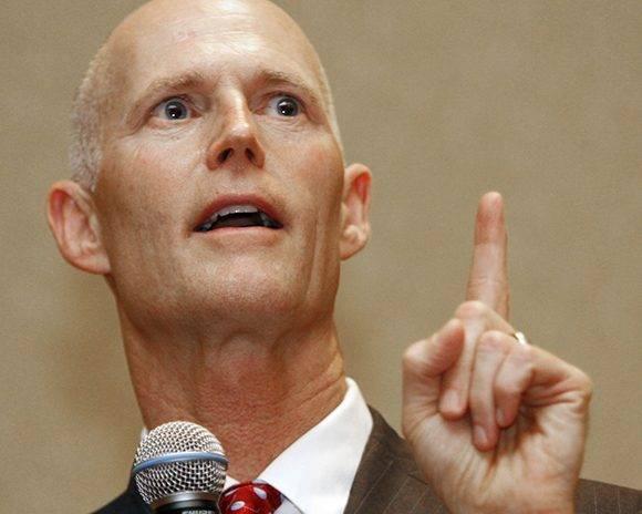 El republicano Rick Scott, gobernador de Florida. Foto: Salon Magazine.