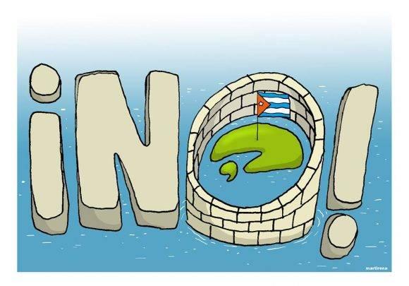 Serie Bloqueo contra Cuba. Autor: Martirena