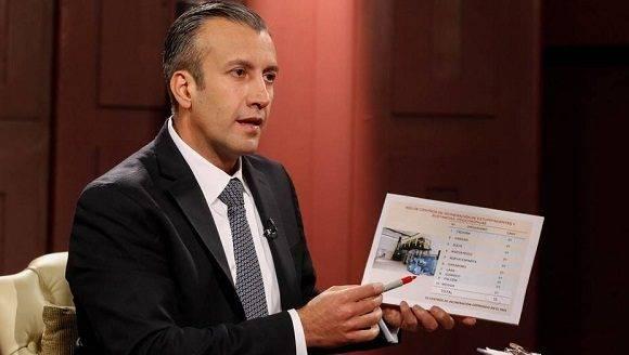 """El vicepresidente Ejecutivo de la República respondió que la acusación que en su contra hizo la oficina del Departamento del Tesoro de EEUU responde a una """"infamia"""", un """"coletazo"""", en contra del pueblo y de la moral de la revolución bolivariana, todas ellas sin sustento real alguno.Foto:eluniversal.com."""