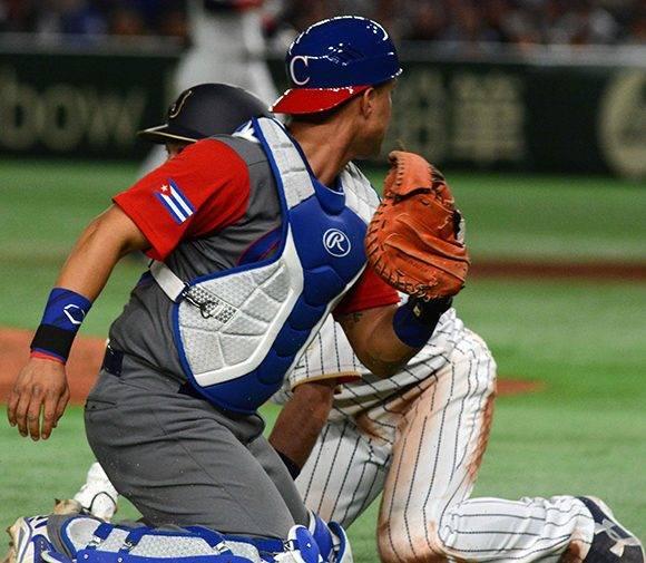 Juego entre las selecciones de Cuba y Japón en la apertura del Grupo B del IV Clásico Mundial de Béisbol, en el estadio Tokio Dome, de la capital de Japón, el 7 de marzo de 2017. ACN FOTO/Ricardo LÓPEZ HEVIA/Periódico Granma/sdl