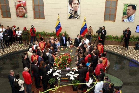 Familiares y ministros del Poder Popular de la República Bolivariana de Venezuela le rindieron homenaje al Comandante Hugo Chávez, Cuartel de la Montaña, Caracas