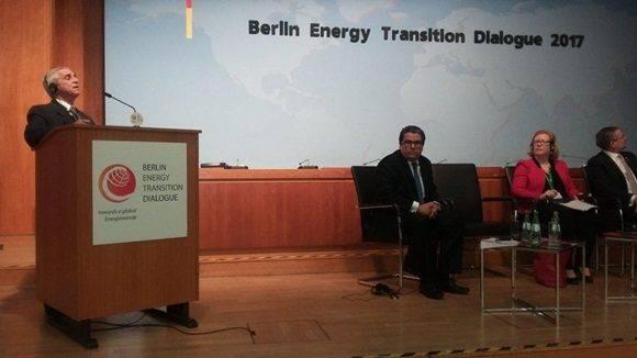 Interviene Ministro cubano de Energía y Minas en tercer Diálogo sobre la Transición Energética en Berlín.