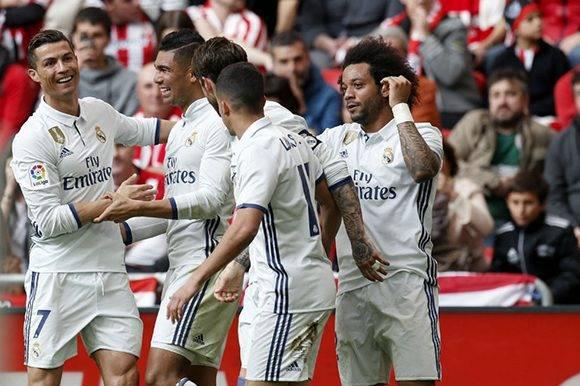 El Real Madrid es líder en la Liga Santander. Foto: EFE.