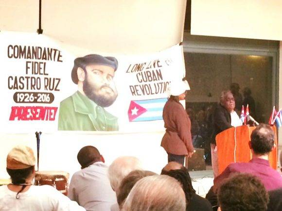 Encuentro de Solidaridad con Cuba en Nueva York. Foto: Página de Facebook de Helen Yaffe